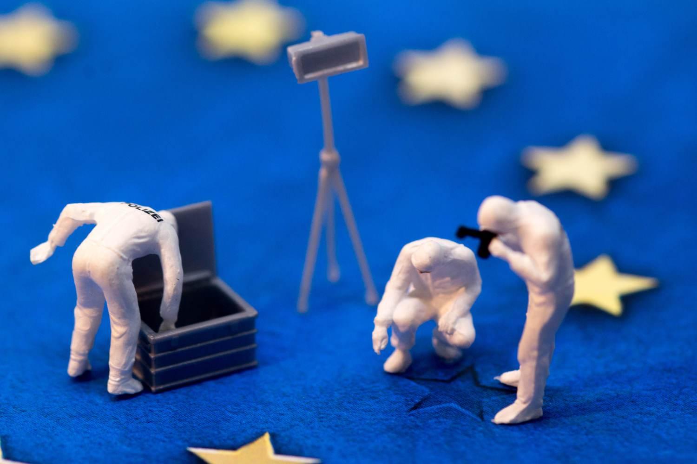 EU fraud investigation concept