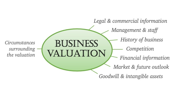 Information used in a business valuation