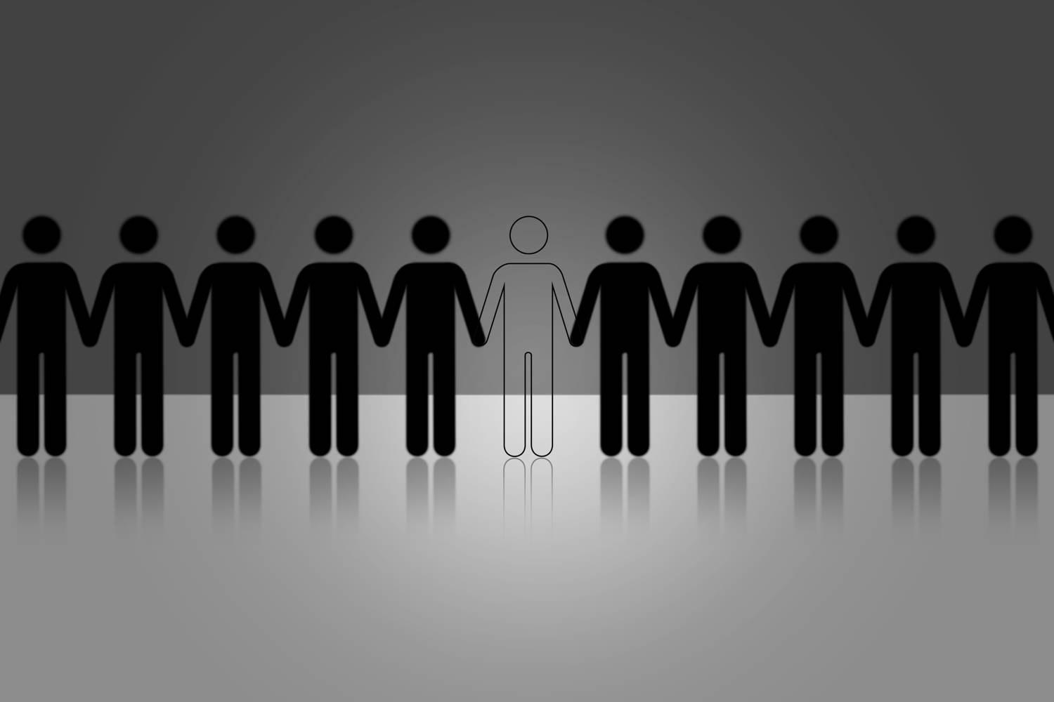 Missing person in line up