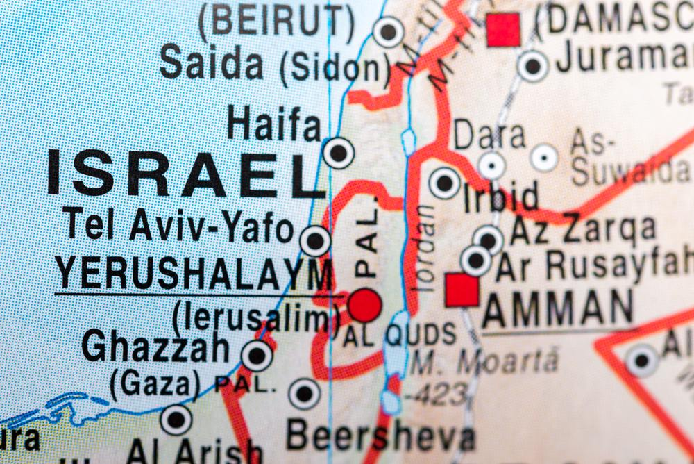 The map of Israel