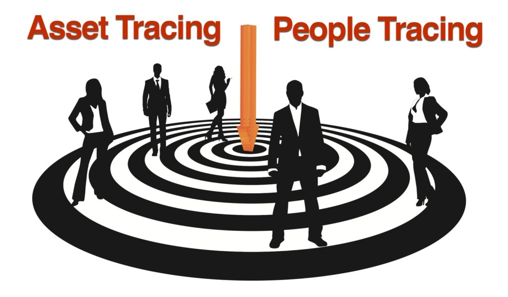 A concept image of asset tracing and people tracing